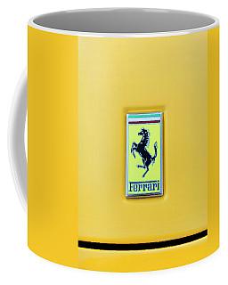 Coffee Mug featuring the photograph Ferrari Badge by Theresa Tahara