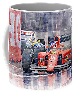 1991 Ferrari F1 Jean Alesi Phoenix Us Gp Arizona 1991 Coffee Mug