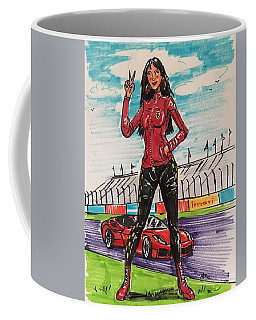 Ferrari Girl Coffee Mug