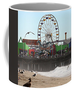 Ferris Wheel At Santa Monica Pier Coffee Mug