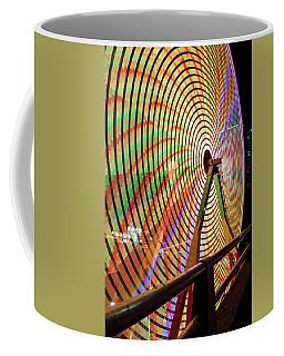 Ferris Wheel  Closeup Night Long Exposure Coffee Mug