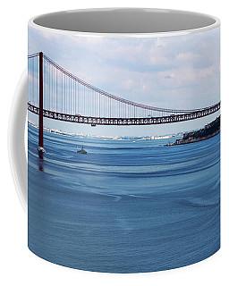 Coffee Mug featuring the photograph Ferry Across The Tagus by Lorraine Devon Wilke