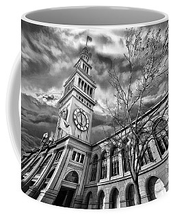 Ferry Building Black  White Coffee Mug