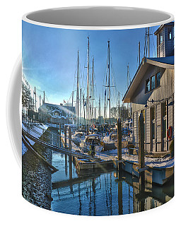 Ferry Harbour In Winter Coffee Mug