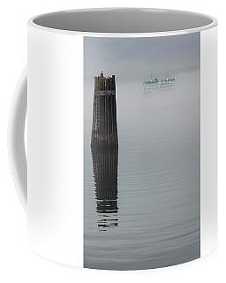 Ferry Hiding In The Fog Coffee Mug
