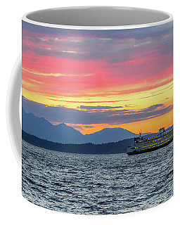 Ferry In Puget Sound Coffee Mug