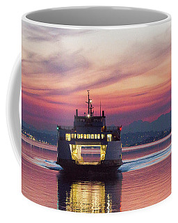 Ferry Issaquah Docking At Dawn Coffee Mug