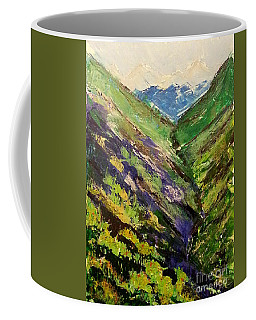 Coffee Mug featuring the painting Fertile Valley by Reed Novotny