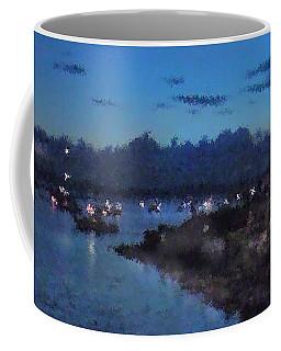 Coffee Mug featuring the photograph Festival Night Land And Shore by Felipe Adan Lerma