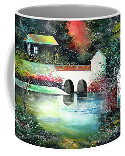 Coffee Mug featuring the painting Festival Of Lights by Anil Nene