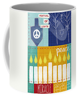 Festival Of Lights- Hanukkah Art By Linda Woods Coffee Mug