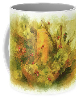 Coffee Mug featuring the photograph Festive Holiday Candle by Lois Bryan