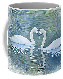 Festive Swan Love Coffee Mug