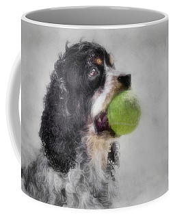 Coffee Mug featuring the photograph Fetching Cocker Spaniel  by Benanne Stiens