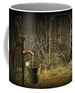 Fetching Water From The Old Pump Coffee Mug