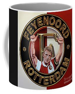 Feyenoord Rotterdam Painting Coffee Mug by Paul Meijering