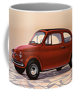 Fiat 500 1957 Painting Coffee Mug
