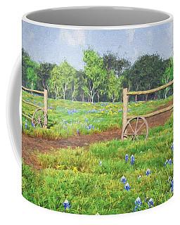 Coffee Mug featuring the digital art Field Of Bluebonnets by Jayne Wilson