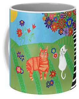 Field Of Cats And Dreams Coffee Mug