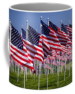 Field Of Flags For Heroes Coffee Mug