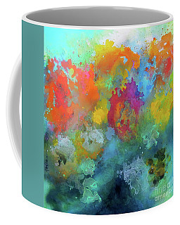 Field Of Flowers. Painting. Coffee Mug