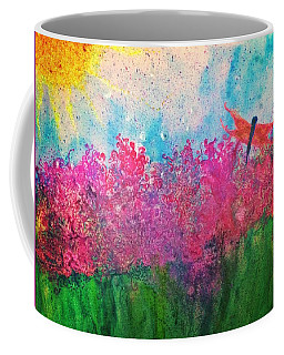 Field Of Flowers W Firefly Coffee Mug