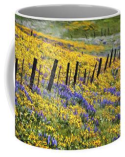 Field Of Gold And Purple Coffee Mug