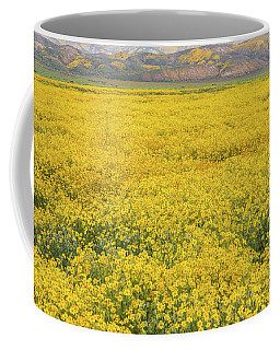 Coffee Mug featuring the photograph Field Of Goldfields by Marc Crumpler