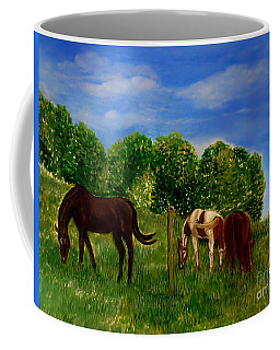 Field Of Horses' Dreams Coffee Mug by Kimberlee Baxter