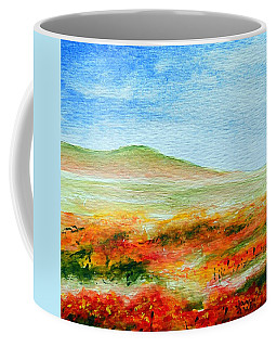 Coffee Mug featuring the painting Field Of Poppies by Jamie Frier