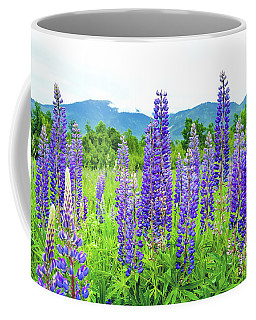 Coffee Mug featuring the photograph Field Of Purple by Greg Fortier