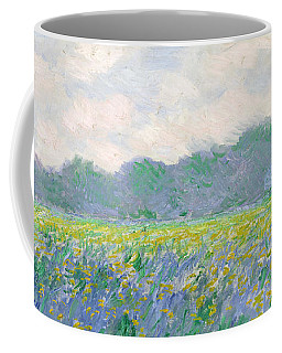 Field Of Yellow Irises At Giverny Coffee Mug