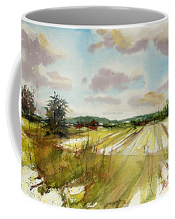 Field On The Lane Coffee Mug by Judith Levins
