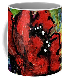 Coffee Mug featuring the painting Field Poppy by Rae Chichilnitsky