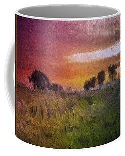 Coffee Mug featuring the painting Fields Of Green by Mark Taylor