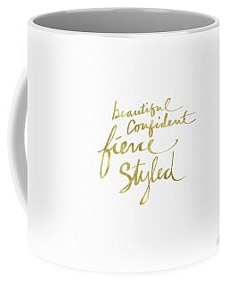 Fierce And Styled Gold- Art By Linda Woods Coffee Mug