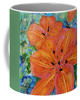 Coffee Mug featuring the painting Fierce Tiger by Judith Rhue