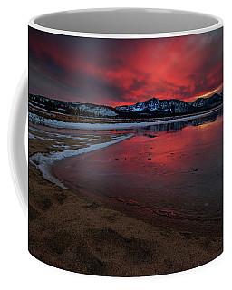 Fiery Ice And Light At Lake Tahoe Coffee Mug