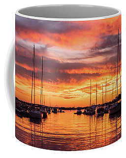 Fiery Lake Norman Sunset Coffee Mug