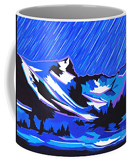 Fiery Raining Meteors Coffee Mug