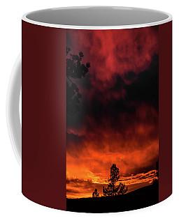 Coffee Mug featuring the photograph Fiery Sky by Jason Coward