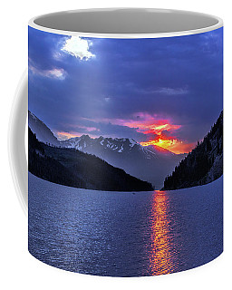 Fiery Sunset At Summit Cove Coffee Mug