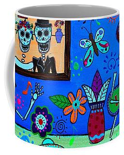 Coffee Mug featuring the painting Fiesta Calaveras IIi by Pristine Cartera Turkus