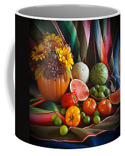 Coffee Mug featuring the painting Fiesta Fall Harvest by Marilyn Smith