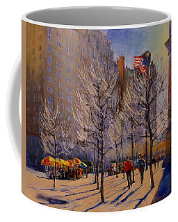 Fifth Avenue - Late Winter At The Met Coffee Mug