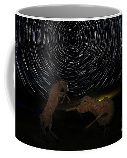Fighting Horses Coffee Mug