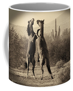 Fighting Stallions Coffee Mug