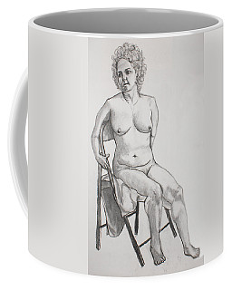 Coffee Mug featuring the drawing Figure Drawing by Jean Haynes