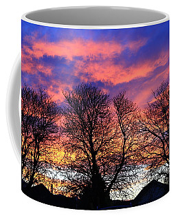 Coffee Mug featuring the painting Filigree Sunset by Nareeta Martin