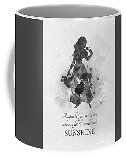 Fill The World With Sunshine Black And White Coffee Mug